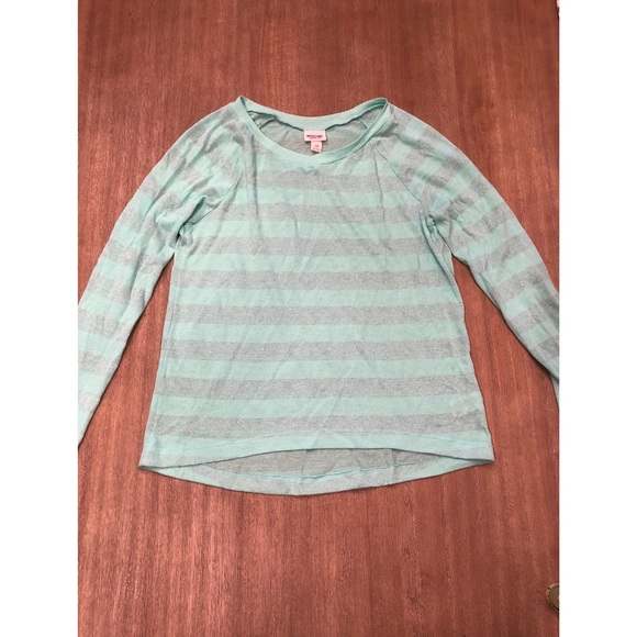 290d45b90328 Mossimo Supply Co. Tops | Mossimo Mint Green Glitter Stripe ...
